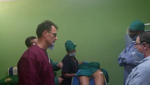 Preparazione del paziente per Infiltrazioni al ginocchio